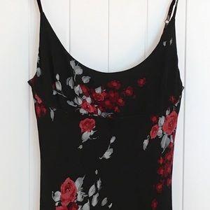 Bebe black floral dress. Size Medium